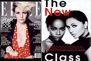 """Karen featured as a 'newcomer to watch for' in ELLE Magazine's 'Women in Television' issue - February 2015"