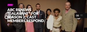"""ABC Renews 'Galavant' for Season 2; Cast Members Respond"""