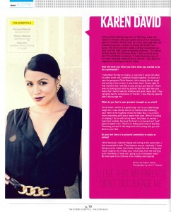 Karen David's feature in The Stndrd Lifestyle - The Icon Issue